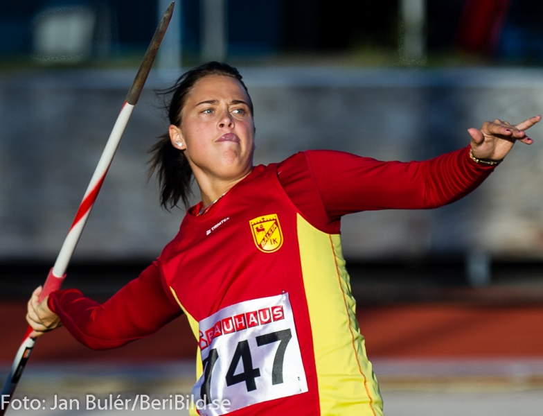 Junior SM i friidrott på Arosvallen i Västerås 2013.